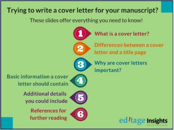 How to write a cover letter to submit a research paper - Quora
