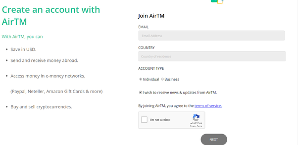 How to register and verify your AirTM account - Earner startup