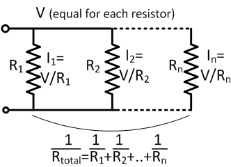 how to tell if resisters are in series or parallel