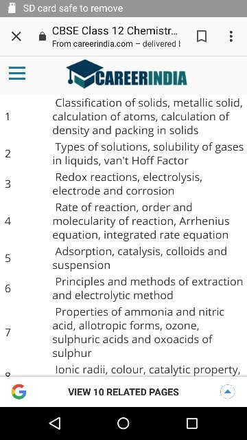 What are the important chapters in class 12 chemistry? - Quora