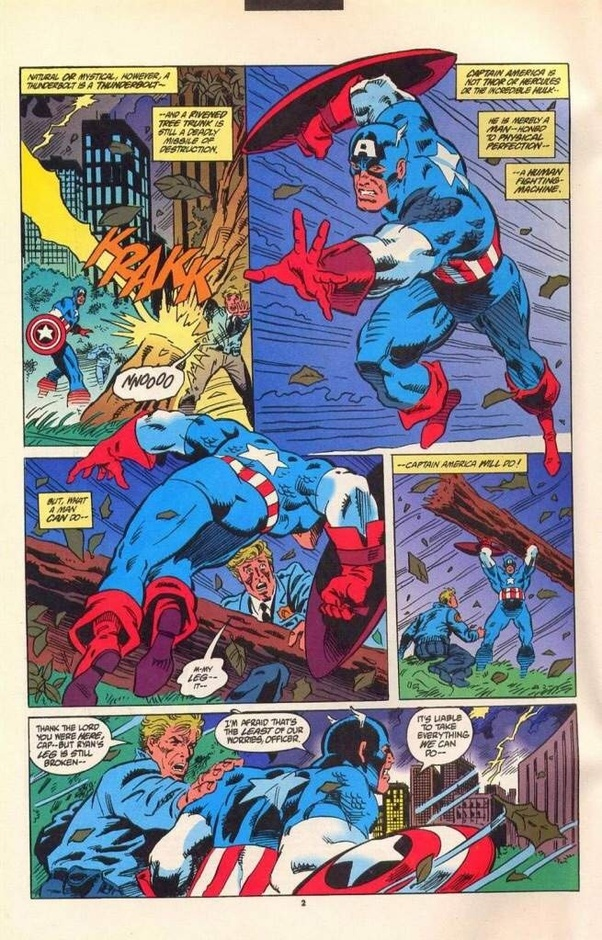In The Comics If Captain America Is In Peak Human Condition Then How Fast Is He And How Strong Is He If He Is The Peak Of Human Potential Then What Can