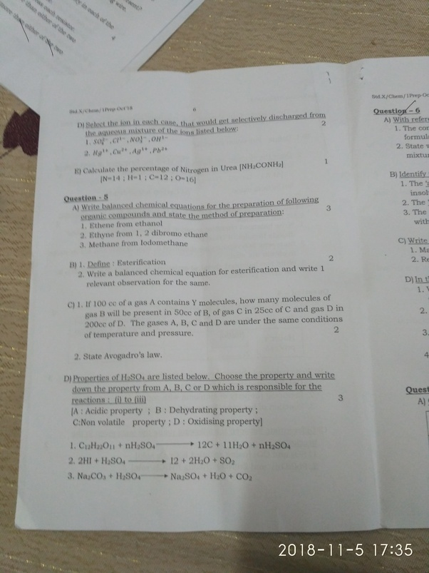 What are the important chapters of physics and chemistry in