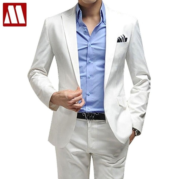 Which Color Of Shirt And Pants Matches A White Blazer?