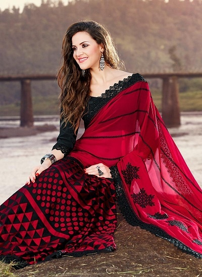 6b93b354b7 It's a great place to shop for young women who prefer highly fashionable  yet breathable sarees. Georgettes, crepes and kota silks here are simply ...