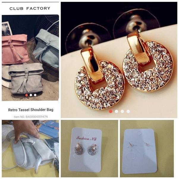 Here i have attached the products shown in club factory app and the one i  originally recieved 69017632b4b35