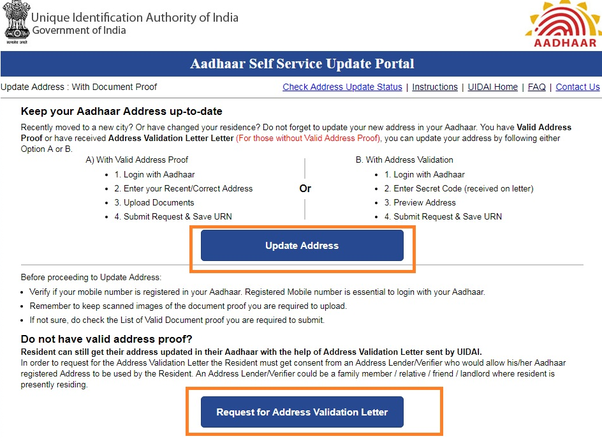 how to change my address in the aadhar card  quora