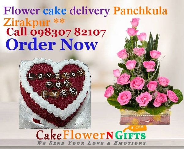 Order Rs 499 Flower And Cake Online From Just N Delivery Shop In Panchkula Zirakpur City For Birthday Anniversary Gifts Delivering Same Day