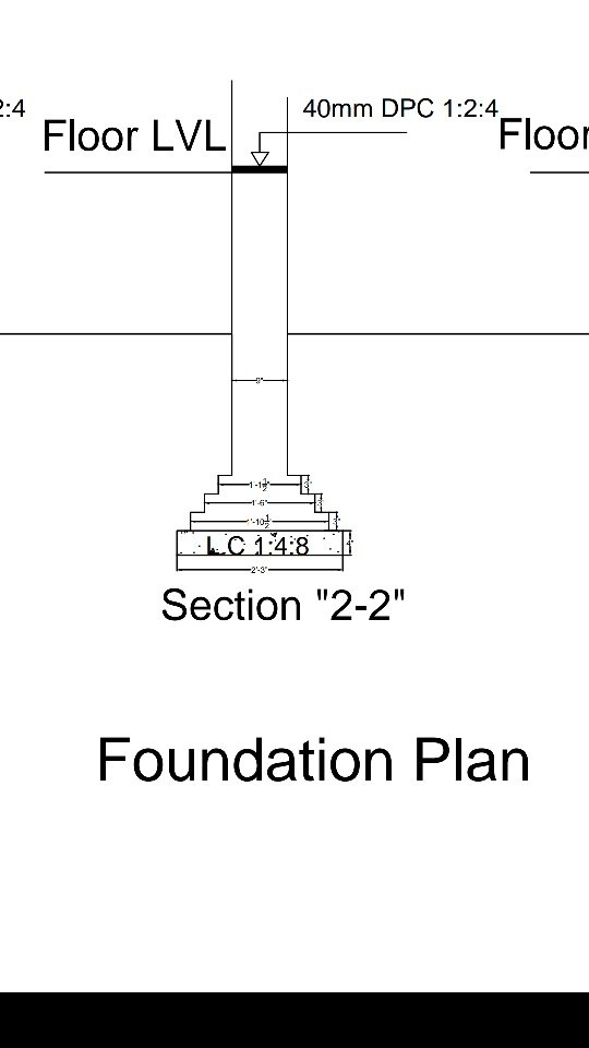 What will be the size of a RCC column, and a plinth beam in terms of