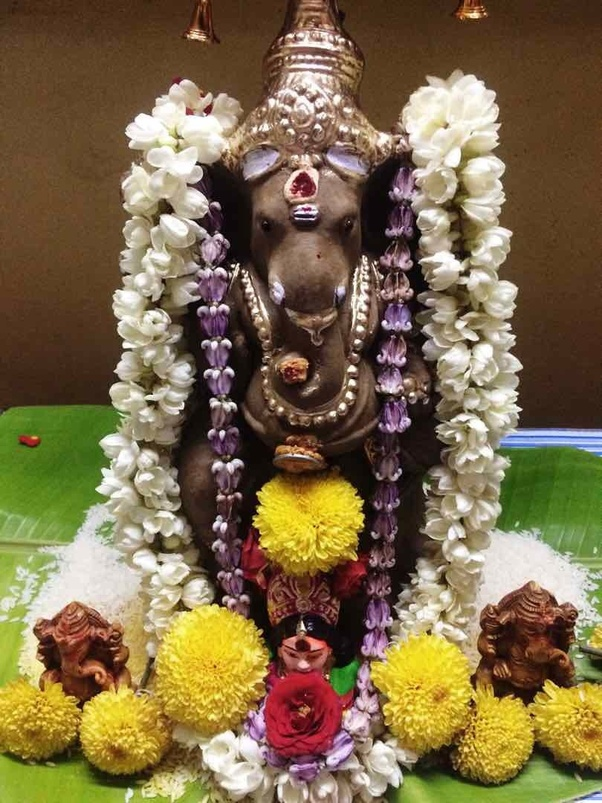 How is Ganesh Chathurthi celebrated in South India?