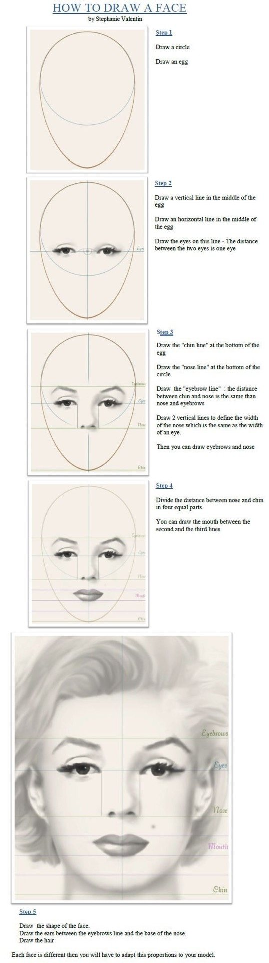 how to draw a human face side view