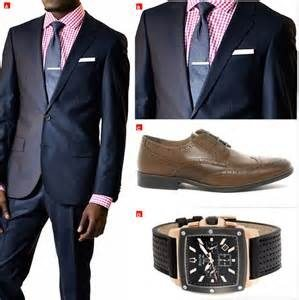 What colored tie would go with a navy blue suit and a ...