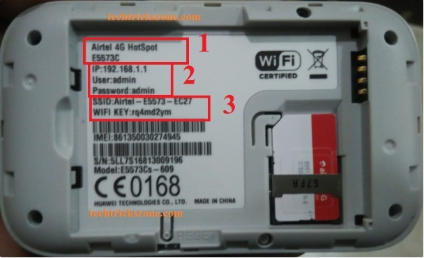 What is the username and password of the Bharti Airtel 4G Wi-Fi