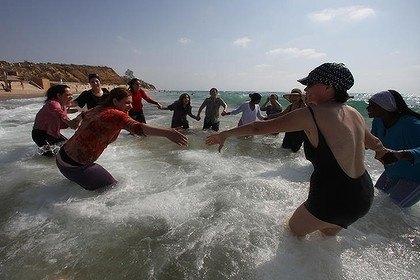 women beach burkas Muslim in at the