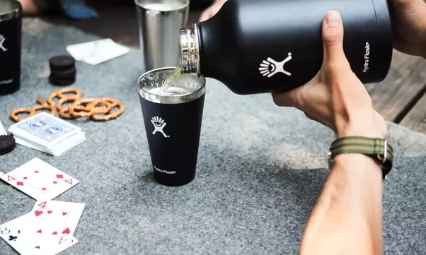 5c8116977c The Hydro Flask Wide Mouth Bottle is customizable! Make your own lid! The  Flex Cap makes it leak-proof and comes with a handle.