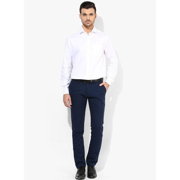 White shirt black pants casual