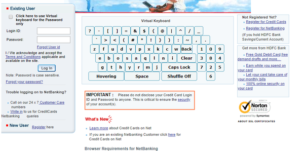 How to register a credit card of Hdfc bank - Quora