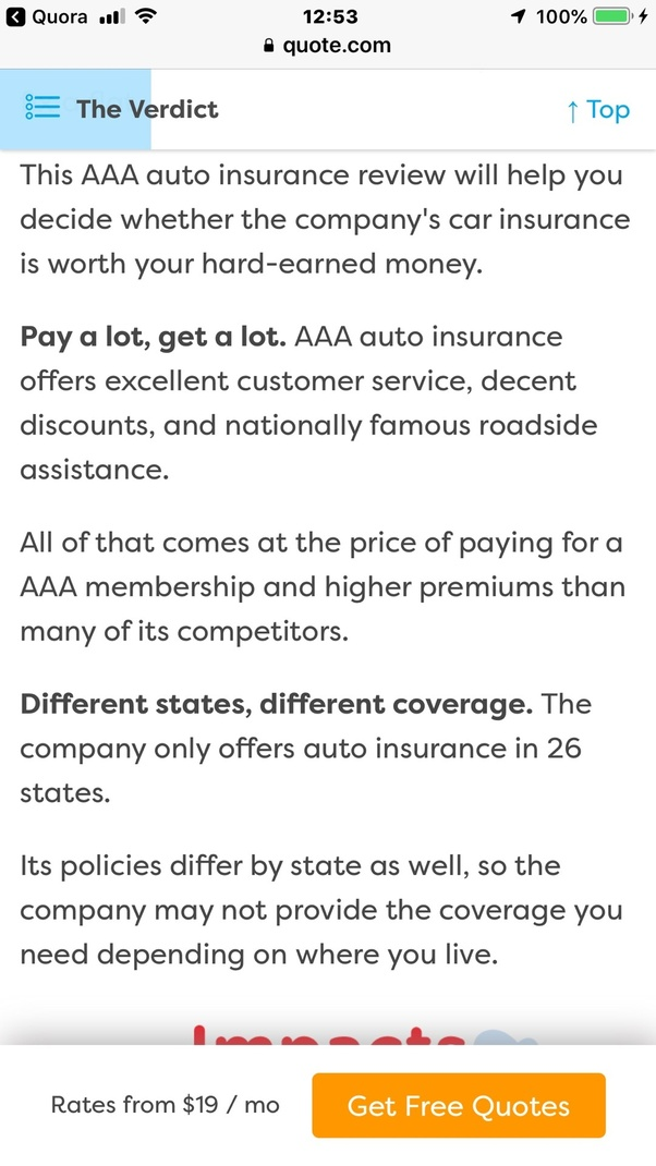 I had an issue with my AAA auto insurance and came very