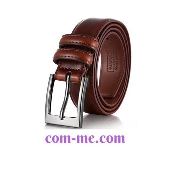 Dante Mens Genuine Leather Belt with Single Prong Buckle Black