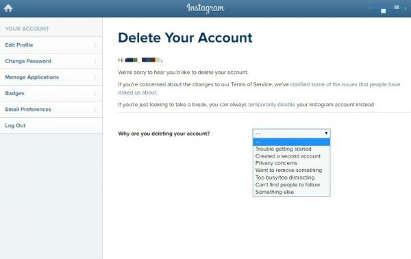 Why does my instagram account still show when i permanently deleted what should you do if you forgot your password ccuart Image collections