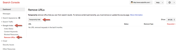 Como remover uma página do meu sitemap WordPress