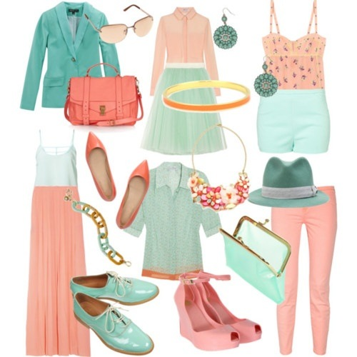 What color goes with mint green
