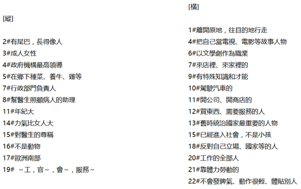 Is it possible to have a crossword puzzle in Mandarin? If