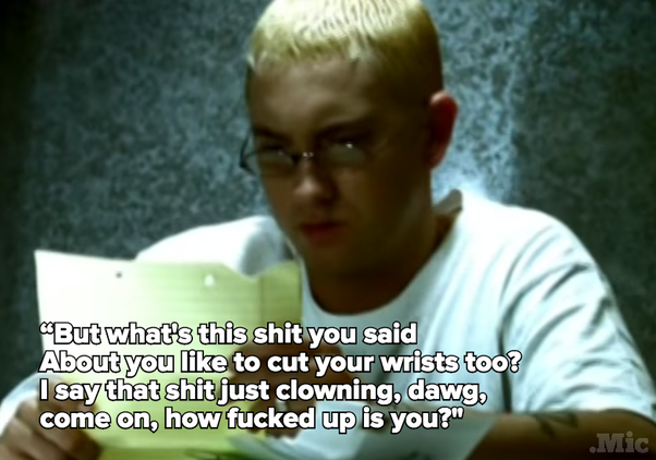 does eminem write his own songs Eminem is considered unusual in structuring his songs around the lyrics, rather than writing to beats one exception was stan, which came from an idea and scratch track produced by the 45 king  [208.