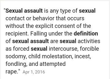Sexual assault means