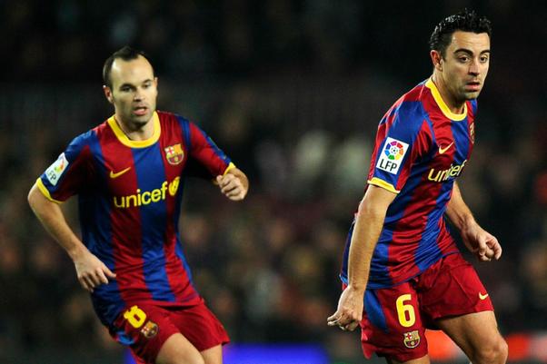 Xavi And Iniesta And Messi 2013