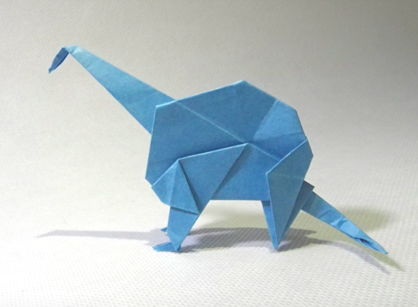 This Dinosaur Is The Best Origami Models I Ever Saw Because First Model Fold By My Self When Was 8