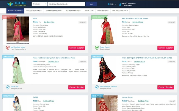 How to purchase sarees directly from manufacturers? What are