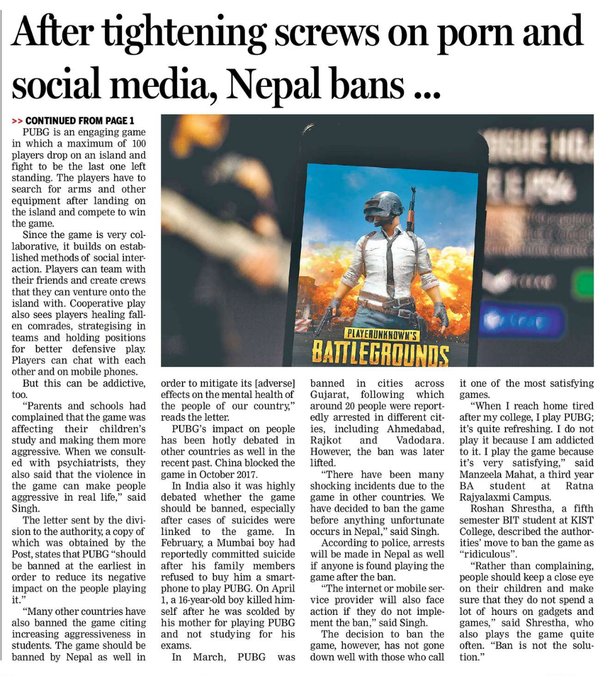 Why is PUBG banned in Nepal? Is it good or bad? - Quora