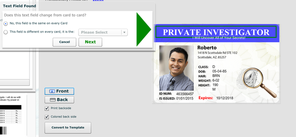 Once You Have Converted A Card Into Template Several Different Options For Adding Employees Identities