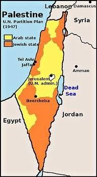 What was the map of Israel like during 1948? - Quora