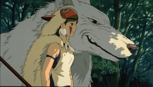 Princess Mononoke Hime Is A Movie With White Wolves In It But I Dont Think True Anime And Or Manga Fans Would Call