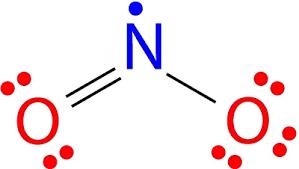 Znalezione obrazy dla zapytania NO2 structure radical