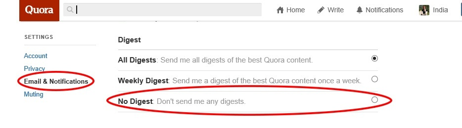 How to subscribe or unsubscribe to the Quora Weekly Digest