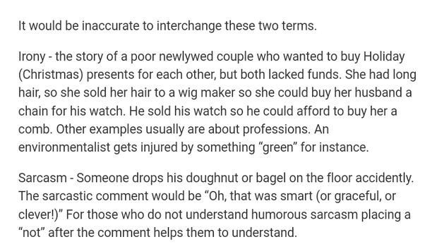 What Is The Difference Between Sarcasm And Irony Quora