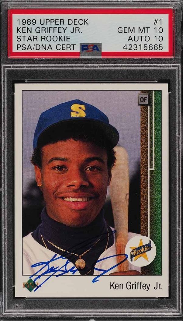 How Much Is A Graded 1989 Upper Deck Ken Griffey Jr Rookie