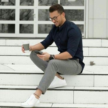 Navy Blue Shirt With Grey Chinos Best Picture Of Blue Imageve Org