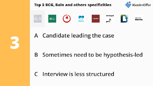 How different are the McKinsey, Bain and BCG interviews? - Quora