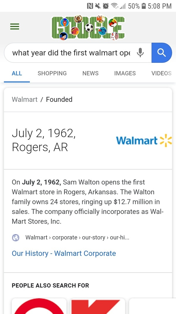 What year was it the first Walmart started? - Quora