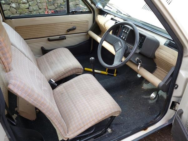The Interior Of A 80s Fiat Panda