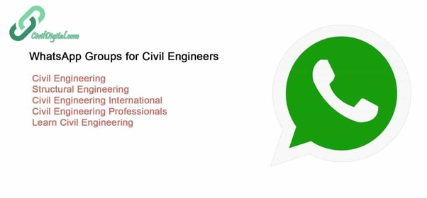 What are the best WhatsApp groups for professional civil engineers