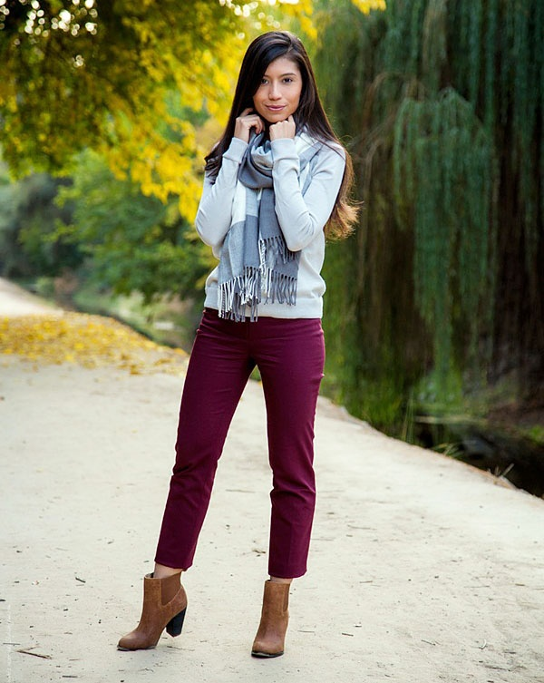 Outfits wine colored jeans 3 Ways