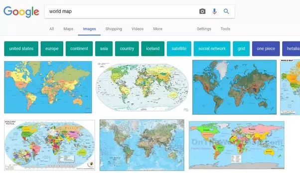 Do we have the same geographic maps in every country for example alright now if we look up the chinese translation of world map which is in baidu the chinese search engine you would find a page like this gumiabroncs Gallery