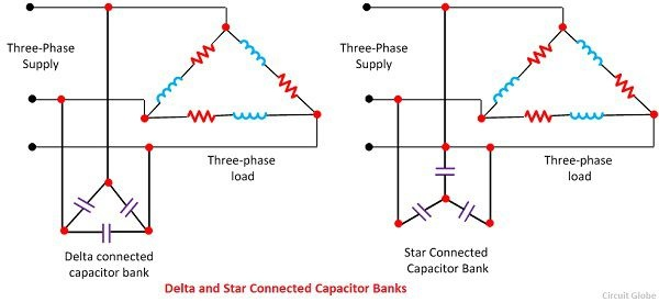 How To Connect A Capacitor Bank With A 3 Phase Line To Improve The Power Factor