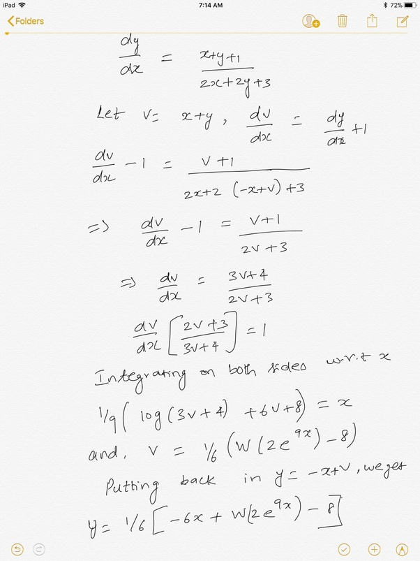 What Is The General Solution Of The Differential Equation 2x2y3