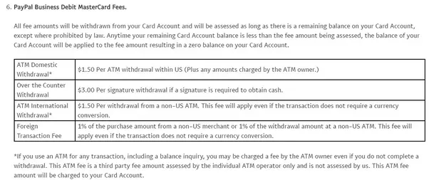 Are there any atms in the us that will let me withdraw money from feature for the paypal business debit mastercard paypal also charges 150 for an atm withdrawal in addition to any fee the atm charges colourmoves