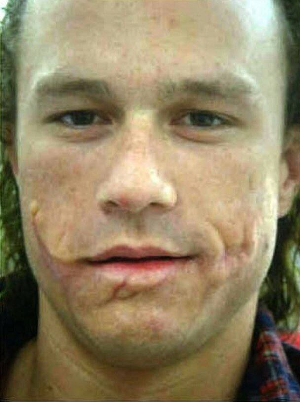 Depends on the version of the Joker you're talking about as they don't all wear make up. Here's Heath Ledger Joker without the white make up.